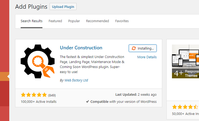 How to Install the Under Construction Page WordPress plugin