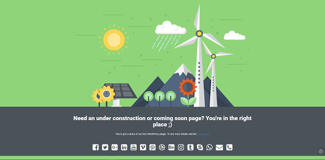 UNDER CONSTRUCTION WORDPRESS