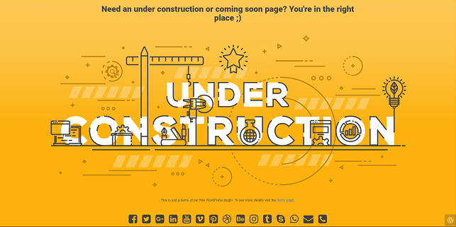 UNDER CONSTRUCTION WORDPRESS PLUGIN REVIEW